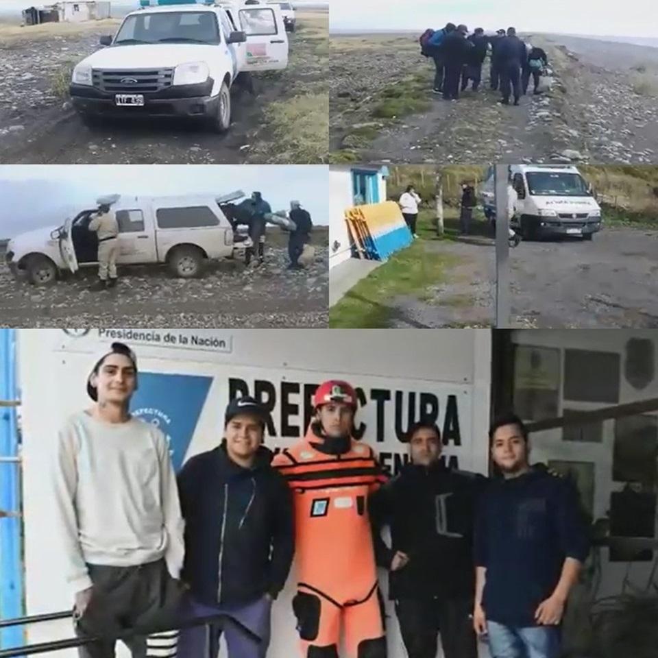 Prefectura rescato a 4 pescadores
