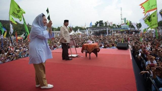 Prabowo: Mbak Titiek Militan Sekali