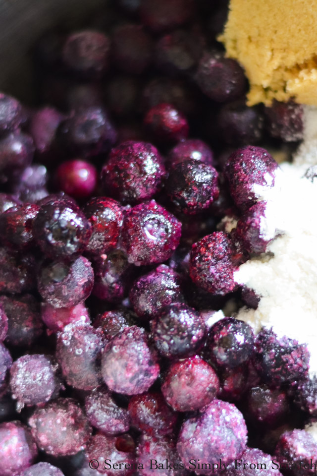 Mix Blueberries,Sugar, Lemon Juice, and Flour.