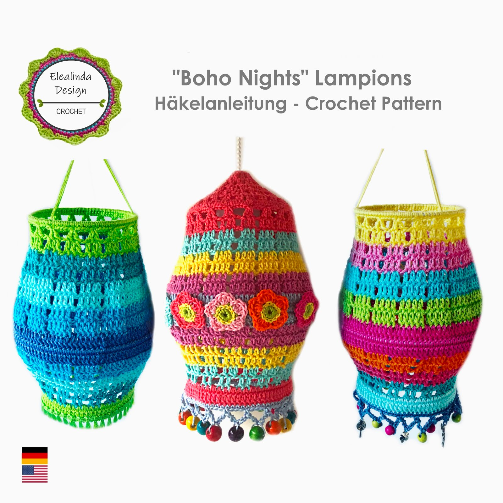 Boho Nights Laternen Häkelanleitung
