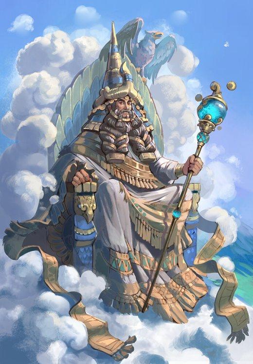 Ekaterina Chesalova artstation arte ilustrações fantasia mitologia games japonesa suméria