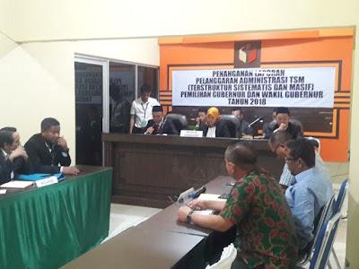Bawaslu Lampung Putuskan Laporan Paslon 1 dan 2 Penuhi Syarat
