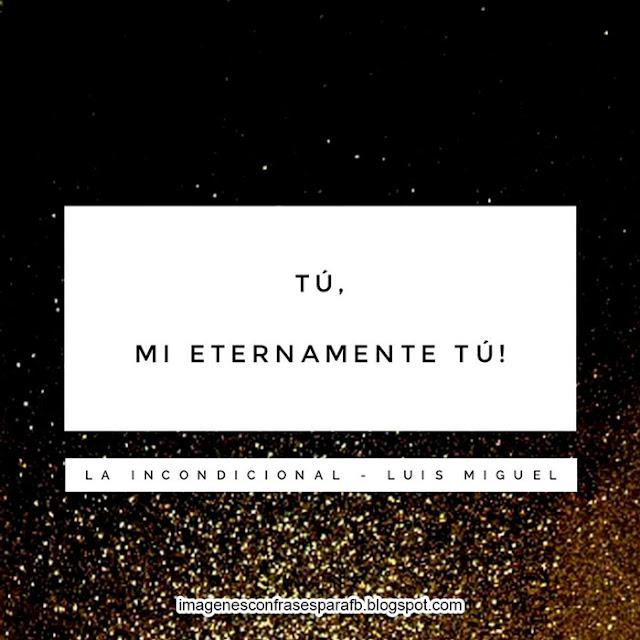 Frases de Luis Miguel - La incondicional