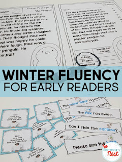 Winter Fluency for Early Readers plus a few FREEBIES- blog post highlighting hands-on activities for kids