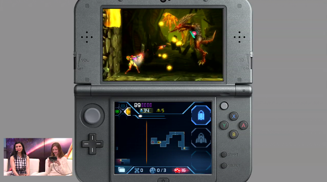 Metroid Samus Returns Zeta boss fight battle Nintendo Treehouse Live 3DS