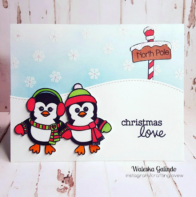 Sunny Studio Stamps: Bundled Up Penguin Card by Waleska Galindo