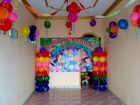 dekor ultah anak sederhana di rumah | desain rumah