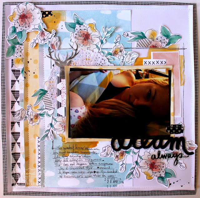 Dream Always layout by Bernii Miller using the Amy Tangerine Stitched collection