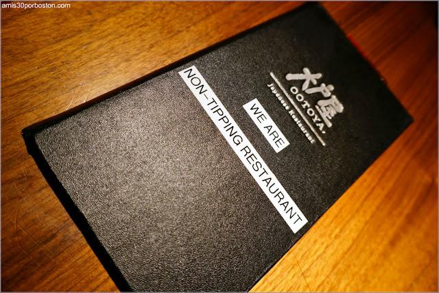 Carta del Restaurante Japonés Ootoya en Chelsea, Nueva York