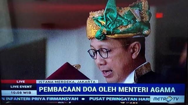 Mari Aminkan Do'a Upacara Bendera Oleh Menteri Agama di Istana Negara
