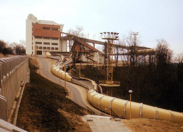 1989 год. Сигулда. Санно-бобслейная трасса (автор фото: archeology)