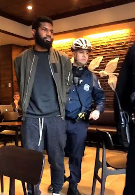 "Two innocent black men paraded in handcuffs at a Philadelphia Starbucks claiming they refused to leave when asked by staffers and police in an incident. The incident was captured on camera and prompted the chief executive officer of the coffee company to say the ""reprehensible outcome"" should have never happened."