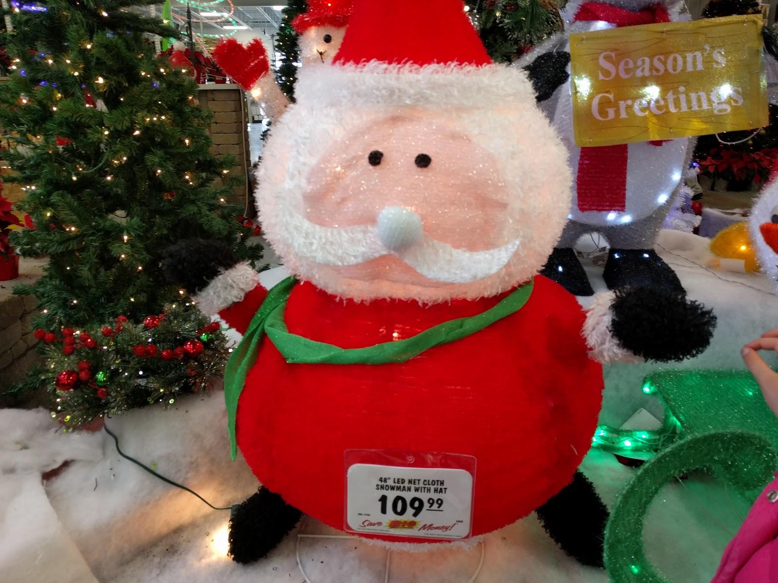 Led Net Cloth Light Up Tinsel Santa At Menards