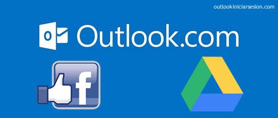 Outlook anuncia  integración con Google drive y Facebook