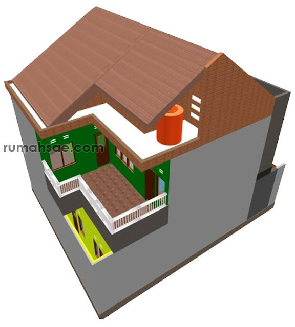 Desain Rumah di Lahan 12 m x 10 m