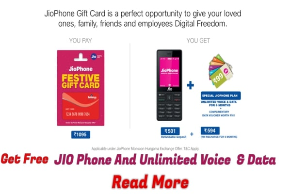 New Offer From My JIO Phone Gift card