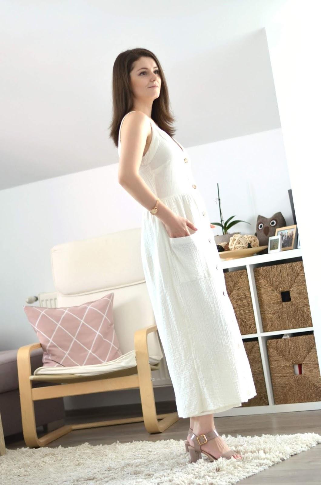 white linen dress for summer style