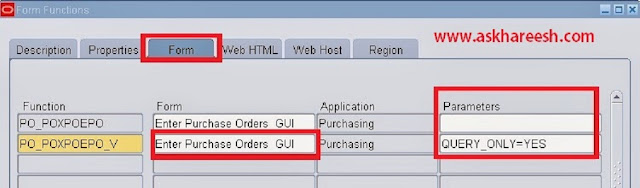 Read Only Responsibility in Oracle Apps | AskHareesh Blog on Oracle