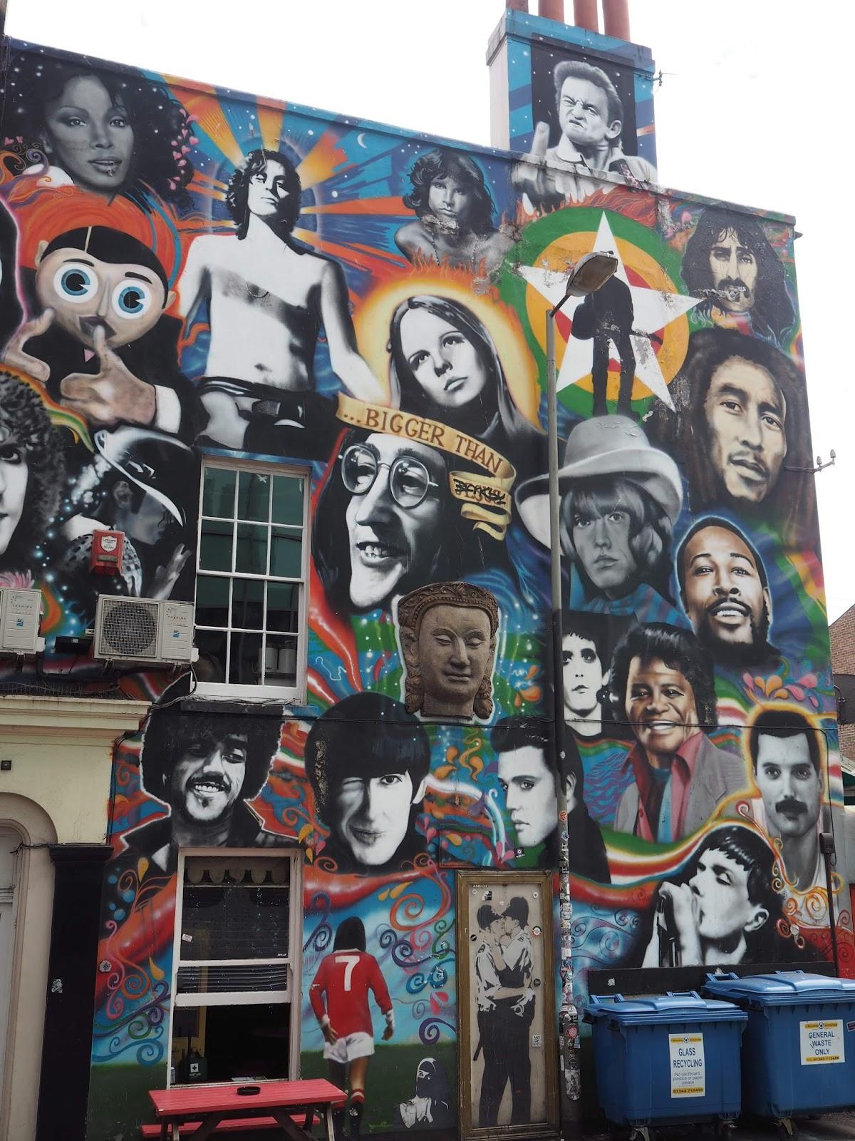 Banksy and other graffiti, Brighton