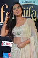 Prajna Actress in backless Cream Choli and transparent saree at IIFA Utsavam Awards 2017 0007.JPG