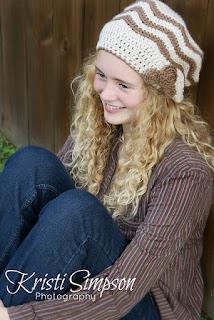 Nora Rose slouchy hat, crochet pattern,  www.KristiSimpson.net,
