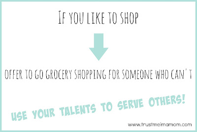 Serve others by your interests: go shopping for them