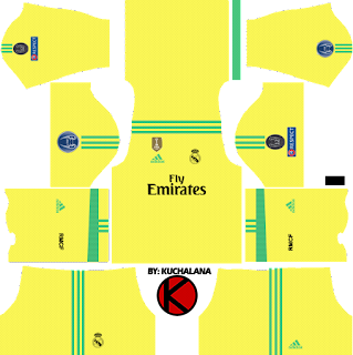 UEFA Champions League Real Madrid Kit