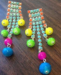 Renkli Kristal Taşlarla Küpe Yapımı