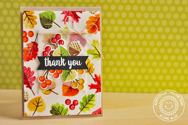 Sunny Studio Stamps: Autumn Splendor Distress Watercolored Fall Leaves Card by Eloise.
