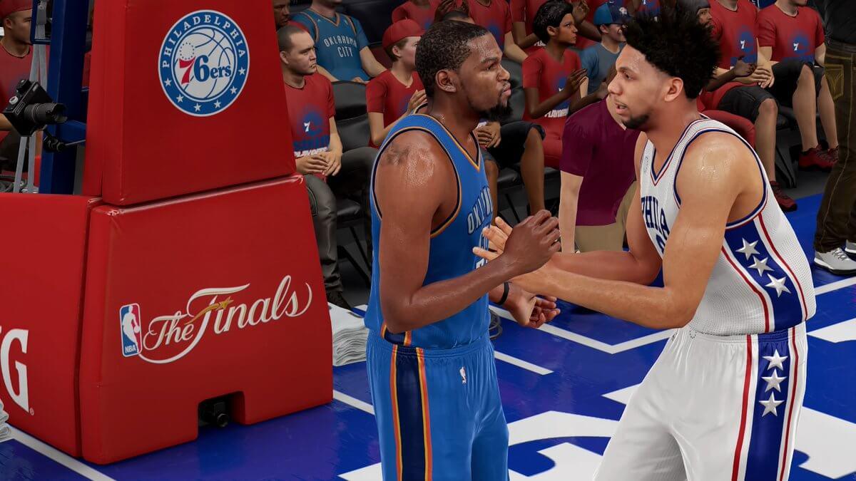 0b0046714a6c NBA 2k16 76ers vs Thunder 2020 Finals - Jahlil Okafor Kevin Durant