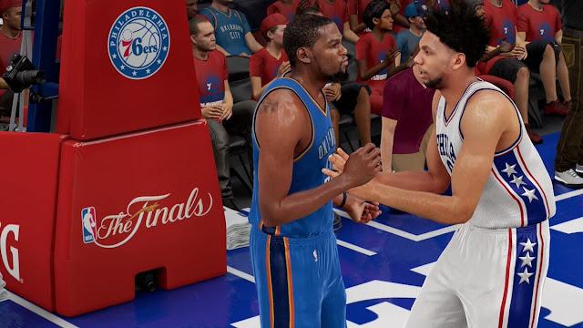 NBA 2k16 76ers vs Thunder 2020 Finals - Jahlil Okafor Kevin Durant