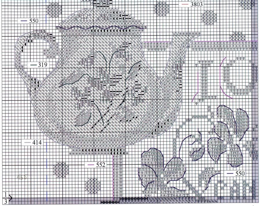 GRAFICOS PUNTO DE CRUZ GRATIS : COCINA(48)