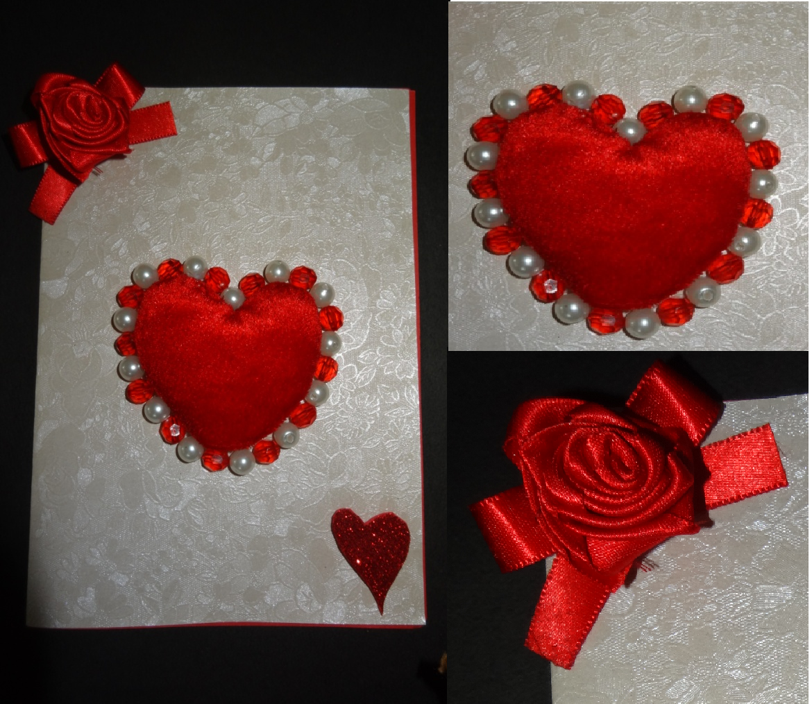 Paper Crafts Valentines Day Heart Greeting Card
