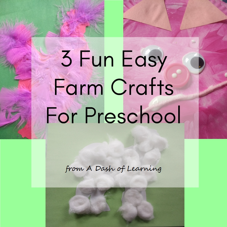 Three Fun Easy Farm Crafts For Preschool