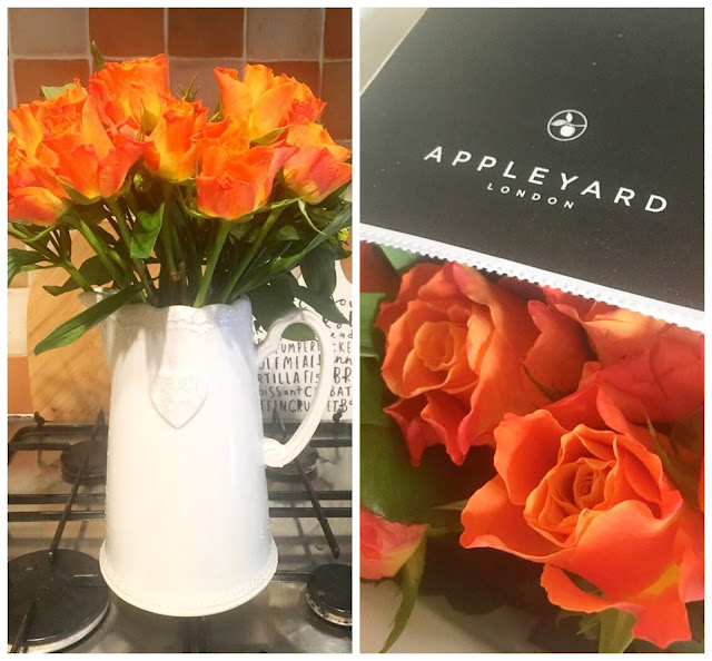 Appleyard London Summer Rose and Alstro bouquet in a vase