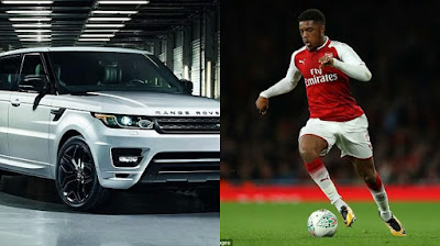 Chuba Akpom and his Range Rover