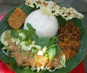 Resep Nasi Pecel Sayur
