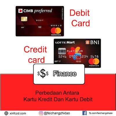 Perbedaan Antara Kartu Kredit Dan Kartu Debit