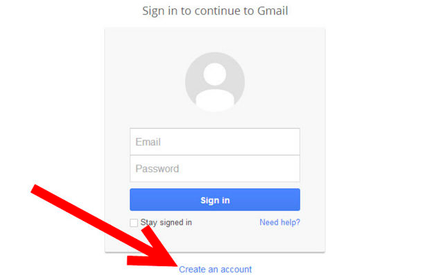 Create new gmail account