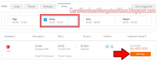 pesan tiket pesawat online lion air