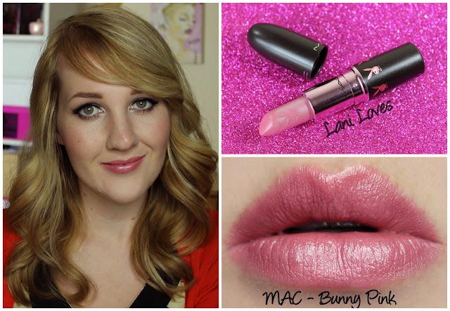MAC Bunny Pink lipstick swatch