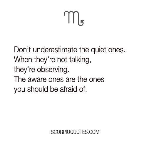 Don't Underestimate The Quiet Ones...