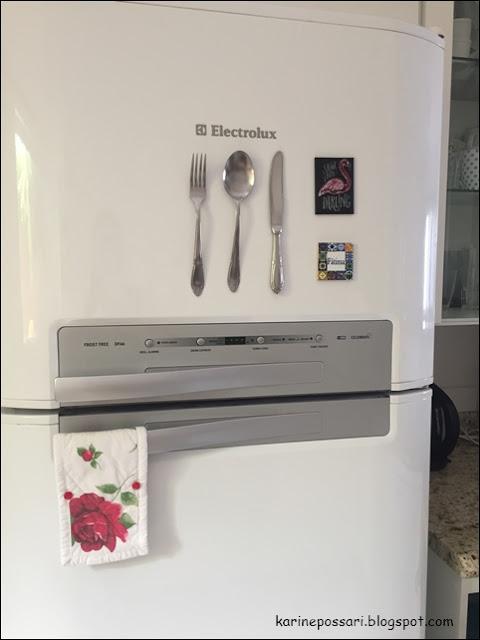 como fazer imã de geladeira com talheres