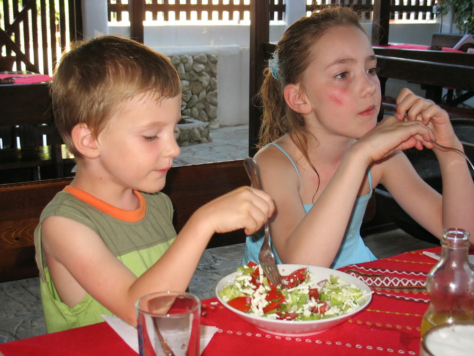 Na obědě v restauraci v Bulharsku