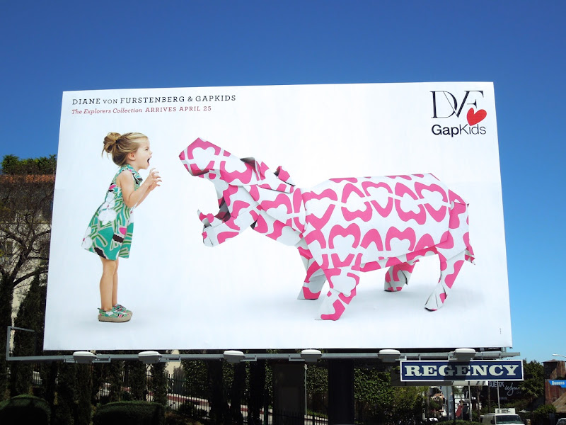 DVF Gap Kids Explorers billboard