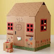 Cardboard castle craft project for social studies, medieval history, book-based activities