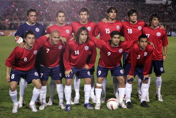 Formación de Chile ante Costa Rica, amistoso disputado el 28 de marzo de 2007