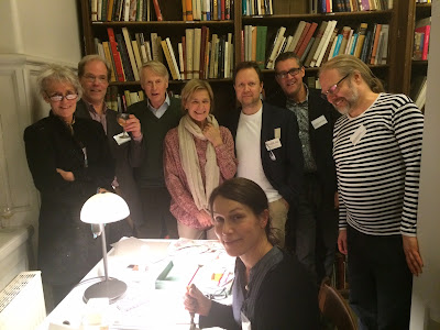 Round midnight in Stockholm, Sweden - THE SWEDISH BOOKSELLERS SAY GOOD NIGHT AFTER A GORGEOS FUNDRAISING DAY