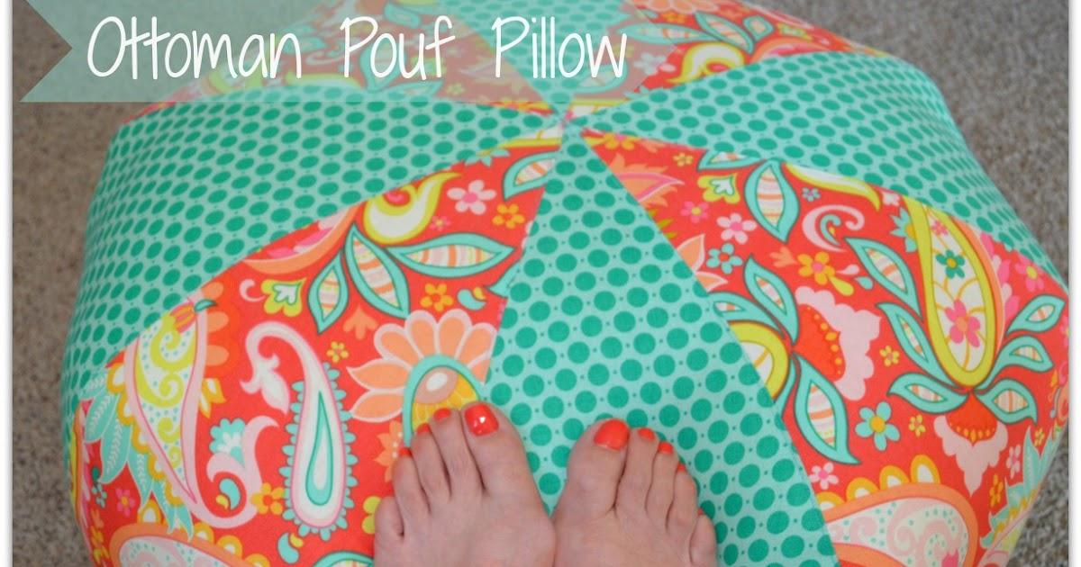 Quiltscapes Ottoman Pouf Pillow Classy Amy Butler Pouf Ottoman