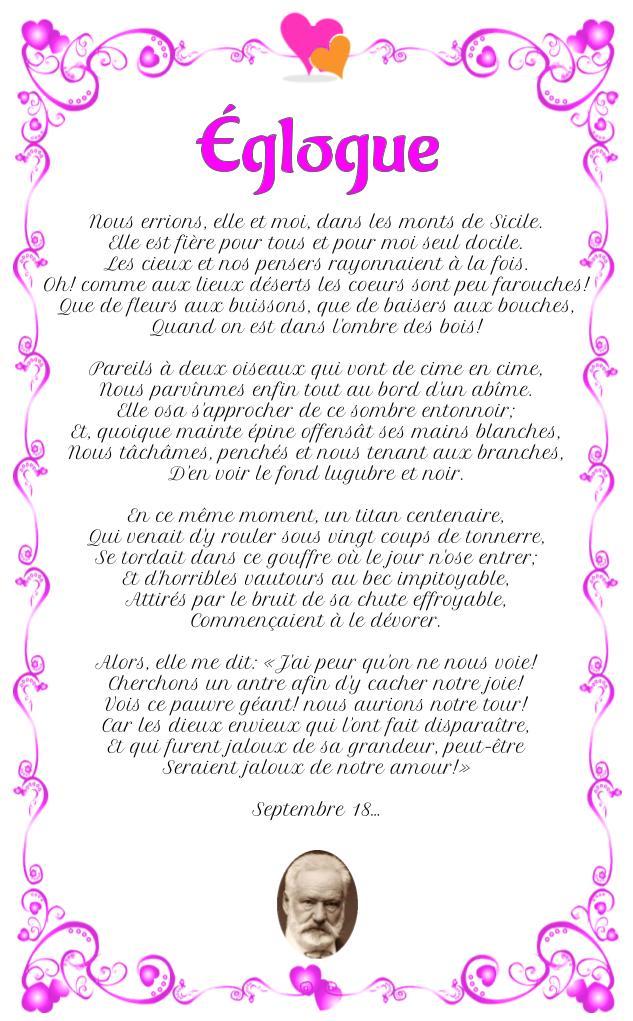 Églogue : Poème de Victor Hugo